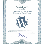 Certified as one of the Three Most Important People in WordPress