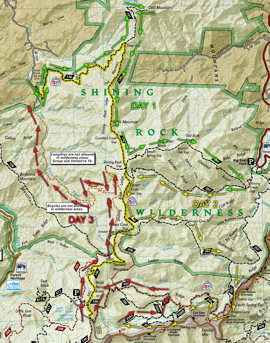 National Geographic Pisgah National Forest Map Norh ... |Pisgah National Forest Map
